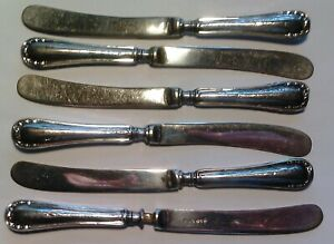 England set of 6 butterknives Sheffield 1915