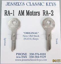 Very Rare Original AMC Keys 1954 - 1969 NOS New Old Stock American Motors Keys