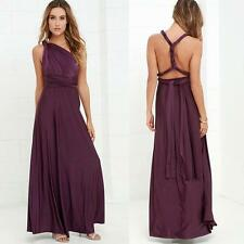 Women Multi Wear Convertible Party Cocktail Ball Gown Long Maxi Dress Bridesmaid