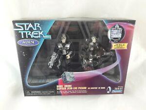 Star Trek Alien Series Captain Picard Locutus  & Borg Drone Playmates Figures