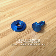Zero Tolerance ZT0630 ZT0620 ZT0620CF ZT 620 Knife Custom Titanium Pivot - BLUE