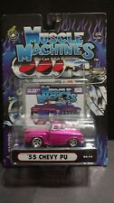 Muscle Machines 55 1955 Chevrolet Chevy Truck Pickup Pink 1:64 Diecast 02-15