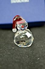 BEAUTIFUL SWAROVSKI CRYSTAL ROCKING SNOWMAN 1005414 - BOXED