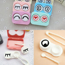 Lovely Cartoon Eyes Shape Contact Lens Case Box Container Holder Hot Sale