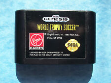 WORLD TROPHY SOCCER SEGA GENESIS 1992 LOOK AT THE PICTURES TESTED GOOD