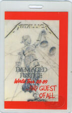 METALLICA 1988-89 LAMINATED BACKSTAGE PASS Guest