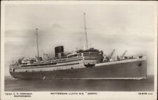 Steamship Rotterdam Lloyd MS Dempo c1920 Real Photo Postcard