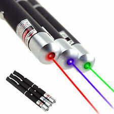 3PCS 5mw Red+Green+Blue Purple Laser Pointer Pen Visible Beam Light Lazer RF