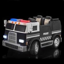 SPORTrax Big Rig Rescue Kid's Ride On 4WD Police Vehicle w/FREE MP3 - Black