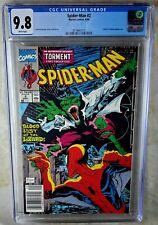 Spider-man #2 NEWSSTAND Marvel 1990 Lizard Calypso CGC 9.8 NM/MT WP Comic N0084