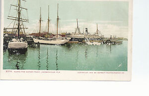 Along The Water Front   Jacksonville Florida     Copyright 1904   Postcard 764
