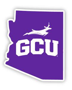 Grand Canyon University Lopes GCU Vinyl Decal-NCAA State Shaped Sticker