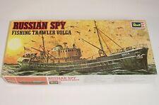 Vintage Nos 1970 Revell Russian Spy Fishing Trawler Ship Volga H-379 Model Kit