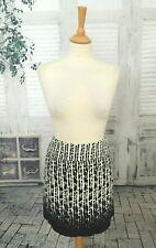 MONSOON Black & white Cotton Velvet short skirt size 14