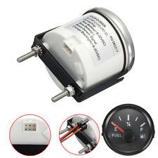 """2"""" LED Fuel Gauge Kit Car Truck Boat Gas Tank Level 12V 24V Universal Black Dial"""