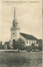 Ocean Beach, NY- Our Lady of the Magnificat Catholic Church- vintage postcard