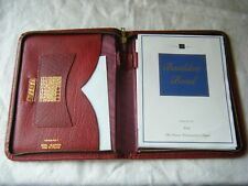 Vintage Burgundy Leather Stationery Case
