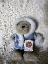 "Boyds FLURRY B. BUNDLEUP ~ 8"" bear in plaid snowsuit"
