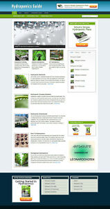 HYDROPONICS GUIDE WEBSITE & BLOG WITH AFFILIATES AND FREE DOMAIN + HOSTING