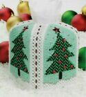 HOLIDAY WONDERLAND TISSUE COVER CHRISTMAS PLASTIC CANVAS PATTERN INSTRUCTIONS