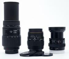 3 LENSES FOR MINOLTA AF SONY A-MOUNT 35-70mm F/4 28-80mm F/3.5-5.6 70-300mm F4-5