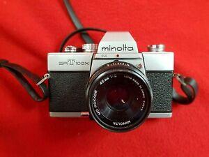 MINOLTA SRT 100X 35mm Film SLR Camera : MD Rokkor 45mm f2 Lens : Working