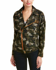 ENGLISH ROSE Spike Studded Camouflage Woven Jacket $159 MSRP Size M / L NEW