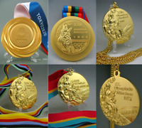 6 piece Olympic Gold Medals -Tokyo 2020/1992/1972/1976/1980/1984