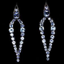 NATURAL BLUE TANZANITE STERLING 925 SILVER EARRINGS