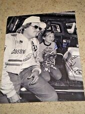 JOHN FORCE & ASHLEY FORCE NHRA DRIIVERS SIGNED 11X14 PHOTO coa
