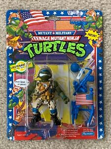 TMNT 1991 Ninja Turtles Mutant Military Lieutenant Leo Leonardo Toy MOC Sealed
