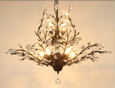 ModerIron Crystal Pendant Lights Iron Metal Ceiling Lamps Fixtures Bedroom Decor