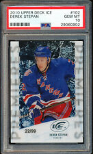 2010 UPPER DECK ICE #102 DEREK STEPAN PSA 10 GEM MINT AUTO RC POP 2