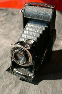 Voigtlander Bessa Folding 6x9 Camera with Compur shutter Scopar lens f/4.5