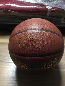 Allen Iverson Autograph Basketball JSA Certified. Spalding NBA basketball