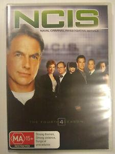 NCIS Season 4 DVD Mark Harmon David McCallum Sean Murray ACtion Crime Drama R4