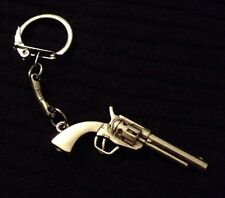 The Walking Dead Gun Keyring Rick Grimes Pendant silver Key Chain Clip COD *UK*