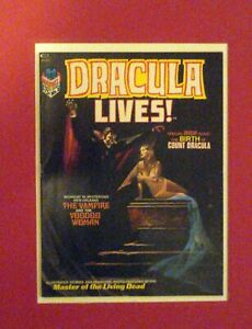 DRACULA LIVES!   #2   WHITE PAGES  9.4  CURTIS MARVEL   VOODOO WOMAN