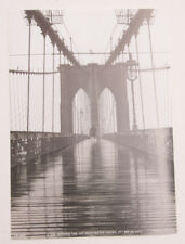 BROOKLYN BRIDGE IN WINTER ~ 24x36 TRAVEL POSTER ~ NEW//ROLLED USA FLAG!