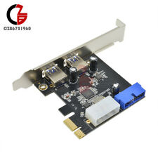 USB 3.0 2 Ports PCI Express Front Panel 4-Pin & 20 Pin With Control Card Adapter