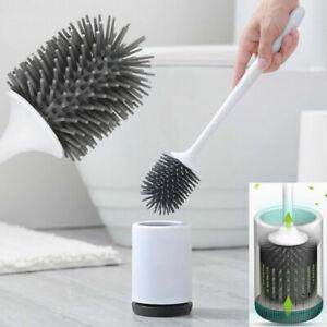 Silikon antibakterielle Toilettenbürste Klobürste Wc Bürste bürste Halter DE