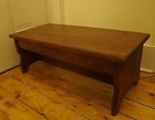 """Handcrafted Heavy Duty Step Stool, 9"""" h, 11"""" x24"""" L Wooden Bed Bedside, Chestnut"""