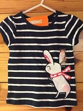 *NWT GYMBOREE* Girls PRETTY POPPY Gym Navy Striped Bunny Top Shirt 18-24 Months