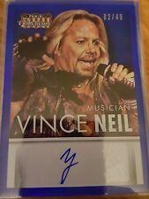 2015 Donruss Americana Vince Neil BLUE Auto Autograph 02/49 NrMint-Mint