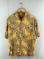 Natural Issue Men's Vintage Short Sleeve Hawaiian Shirt - Brown - Size Large