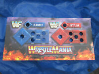 WRESTLEMANIA MORTAL KOMBAT 3 metal control panel   arcade game part shlf