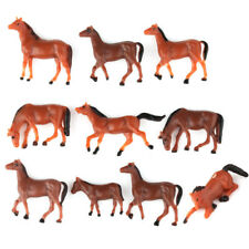 10x HO scale Model Train Building Layout Painted Animal Figures 1:87 gauge Horse