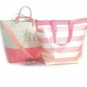 Victoria's Secret  2 in 1 Insulated Cooler Tote Beach Picnic Lunch Bag Rare Gift
