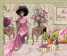 Shabby Vtg Chic Pink Roses Elegant Fashion Compliant Listing Auction Template