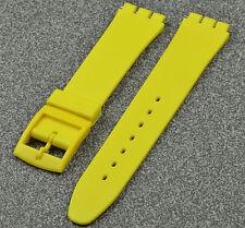 Uhrenarmband kompatibel für Swatch 17 mm gelb neu